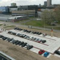 Germieco overzicht tijdelijk aangelegd parkeerterrein